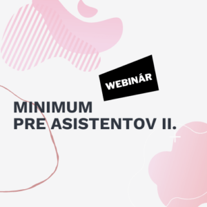 webinar minimum pre asistentov II