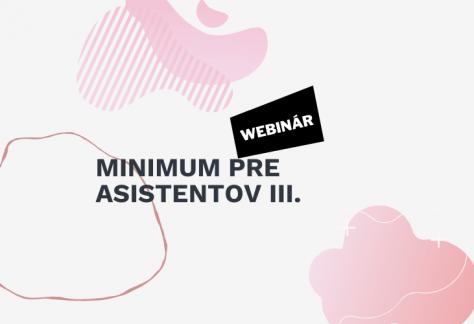 webinar minimum pre asistentovIII